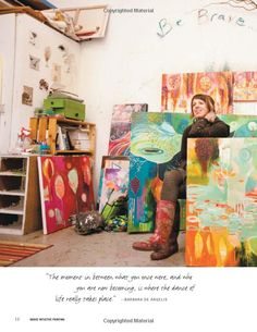 Flora S. Bowley in her studio