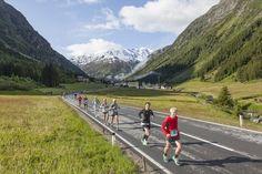 Beim Gletschermarathon können die Läufer ein traumhaftes Bergpanorama genießen, das zu Höchstleistungen motiviert #DachTirols #Marathon