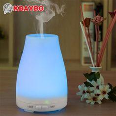 Humidificador ultrasónico Aromaterapia Difusor De aceite esencial difusor de Vapor Frío Con Luces LED de Color Sin Agua de apagado Automático