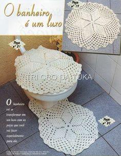Um joguinho para banheiro com a clássica estrela/roseta de seis pontas central…Tudo muito simples e bonito!
