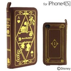 Amazon.com: Disney Character Old Book Case for iPhone 4S/4 - Alice in Wonderland: Cell Phones & Accessories
