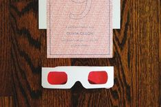 Use red cellophane (from party store or craft store) and template provided here to make decoder glasses
