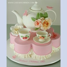 High Tea: I SO want this cake for my 50th! Adorable edible.