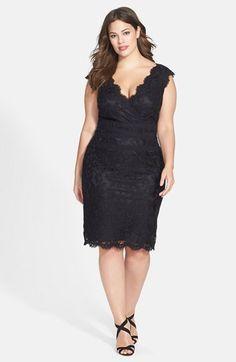 Nordstrom - Tadashi Shoji Embroidered Lace Sheath Dress (Plus Size) - Fashion Plus Size Party Dresses, Party Dresses For Women, Plus Size Outfits, Holiday Dresses, Dresses 2014, Curvy Fashion, Plus Size Fashion, Dress Fashion, Covet Fashion