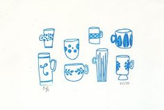 Collection A Day Limited Edition Collection a Day Screen Print - Mugs. lisa congdon