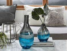 Decorative Glass Vases & Ceramic Pots Online Ceramic Pots, Ceramic Decor, Christmas Delivery, Vases Decor, Bed & Bath, Mountain View, Blue Grey, Glass Vase, Ceramics