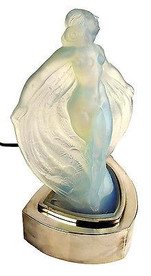 Art Deco Lamp Sabino Glass Art Deco Nude Opalescent Sculpture Figure Isadora