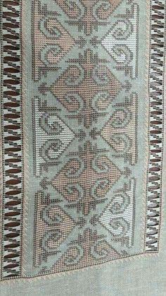 Cross Stitch Borders, Modern Cross Stitch, Cross Stitch Patterns, Beaded Embroidery, Cross Stitch Embroidery, Embroidery Patterns, Palestinian Embroidery, Pin On, Needlepoint
