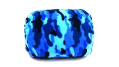 """Blue Camo"" Mamma-pillo, the ultimate wearable (over arm) breastfeeding and bottle feeding nursing support pillow!  Order via our webstore www.mammapillo.com.au"