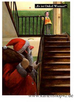 Es ist Onkel Werner - Postkarte zu Weihnachten von Gerhard Glück