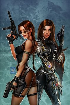 Michael Turner's Tomb raider/Witchblade by Mystic-Oracle.deviantart.com on @deviantART