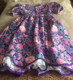 Items similar to Girls size floral dress on Etsy Girls Dresses, Summer Dresses, Size 12, My Etsy Shop, Sewing, Rose, Check, Floral, Handmade