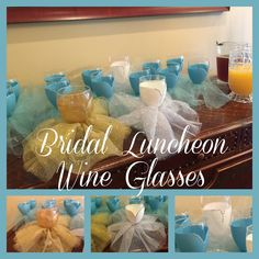 How to Make Bridal Luncheon Wine Glasses Bridal Luncheon, Create And Craft, Bridal Shower, Wine, Glasses, How To Make, Blog, Crafts, Craft Ideas