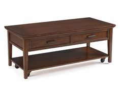 Harbor Bay Toffee Wood Rectangular Starter Lift Top Cocktail Table
