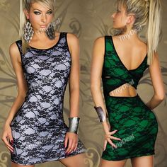 Seductive Lace Decorated Sleeveless One-piece Sundress KTV Night Club Wear for Party Stage Performance NWO-111465