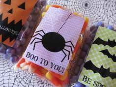 halloween boo be spooky gift tags stickers freebie