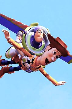 """Buzz, you're flying!""  ""This isn't flying. This is falling with style."" :)"