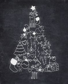 christmas+tree+chalkboard.png (700×871)