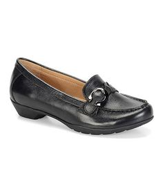 Look what I found on #zulily! Black Peron Leather Loafer #zulilyfinds