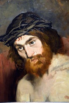 Edouard Manet - Head of Christ, 1865 at the Legion of Honor (Fine Arts Museums of San Francisco CA) |