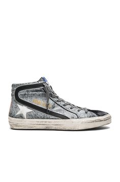 Golden Goose Slide Sneakers in Savage Black Suede | REVOLVE