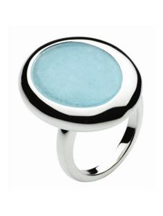 Sterling Silver Blue Jade Ring - This sleek aqua color ring is the perfect compliment to any summer dress. Sterling Silver Jewelry, Silver Rings, Pebble Stone, Jade Ring, Color Ring, House Of Fraser, Aqua Color, Crown Jewels, Stone Rings