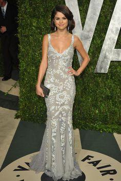 Selena Gomez in Dolce at the Vanity Fair Oscar Party