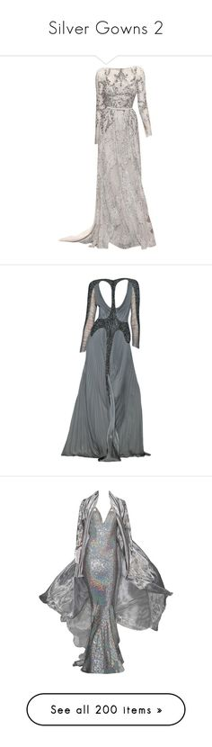"""""""Silver Gowns 2"""" by kingcrimson ❤ liked on Polyvore featuring dresses, gowns, long dresses, vestidos, 13. dresses., elie saab gowns, elie saab, elie saab ball gown, elie saab evening dresses and gown"""