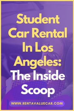 Whether you're sightseeing on a break from classes, or living in Los Angeles while you attend college, renting a car is essential for getting around. Los Angeles's boulevards and highways are best explored in the comfort of an air-conditioned car. However, finding a good rental can be hard if you're college age. Find out more about student car rental with our handy guide. Moving To Los Angeles, Renting, Car Rental, College, Student, Age, University, Colleges