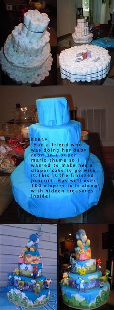 now THIS is a diaper cake.