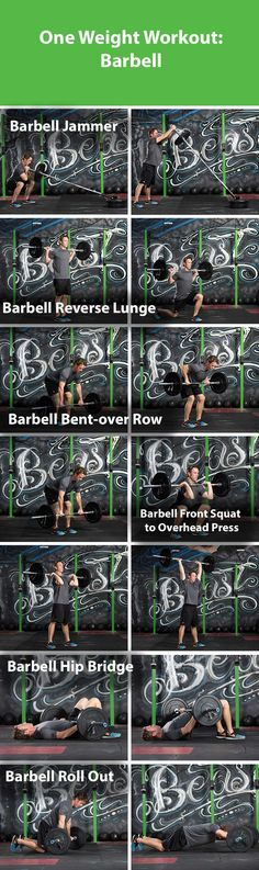 One weight workout- barbell | ACE