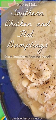 Pure Southern Comfort Food this chicken and dumplings recipe has a short simple … Rolled Dumplings Recipe, Southern Dumpling Recipe, Chicken And Flat Dumplings Recipe, Southern Comfort, Chicken And Dumplins, Southern Chicken, Pasta Sauce, Best Chicken Recipes, Thai Recipes
