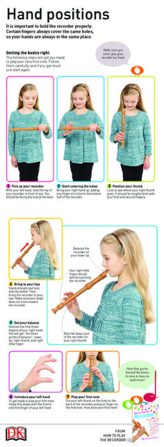 First steps to learning how to play the recorder properly is the hand positions. Once your child has got this down, they'll be making music in no time!