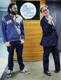 Mike DiCenzo (COM'05) and Arthur Meyer (COM'06), writers for The Tonight Show Starring Jimmy Fallon