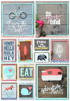 Painted wood signs from Fynes Designs