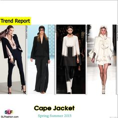 Cape Jacket Trend for Spring Summer 2015. Halston Heritage, Chalayan, Alexander McQueen, and Vivienne Westwood #Spring2015 #SS15