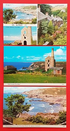 ICYMI: Set of 3 New Vintage Postcards St Agnes Cornwall, History, Tin Mining, Genealogy by CavalierPostcards Vintage Cards, Vintage Postcards, Cornish Tin Mines, England Map, St Agnes, Postcard Art, Royal Mail, New Set, Famous Artists