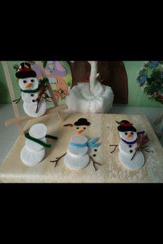 Bonhomme de neige coton 3