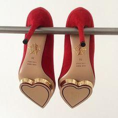 Hearts: #Heart heels, Charlotte Olympia.