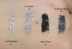 eye kandy glitter swatches | MadamLucks Beauty Journey: Eye Kandy Cosmetics Glitter Swatches