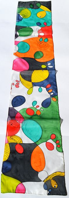Bufanda de seda hecho a mano accesorios únicos de seda por PutSvile