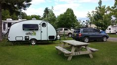 First night with our Alto! Montmagny Quebec, Pointe-aux-Oies campground.