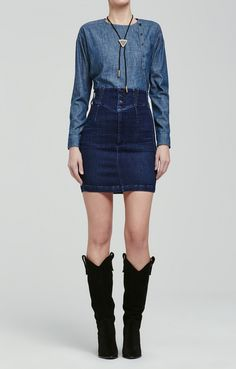 Tiana Super High Rise Skirt in Libra