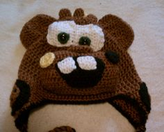 TOW MATER Earflap Kids Hat. $22.00, via Etsy.