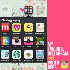 Favorite Instagram and Photo Apps1 Top Five Photo Editing Apps :: InstaThursday :: Laura Winslow Photography