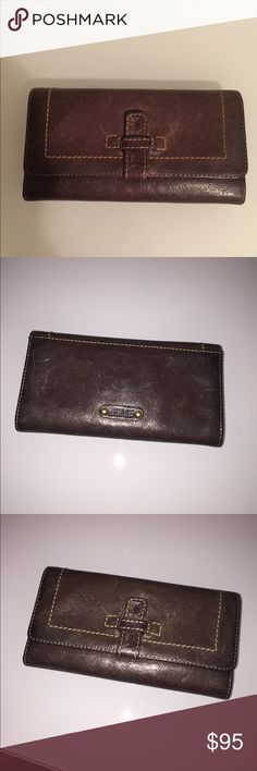 Large Tri Fold Frye Brown Leather Wallet Excellent condition clean authentic Frye wallet  It's rare to find Frye wallet  $178 Frye Bags Wallets