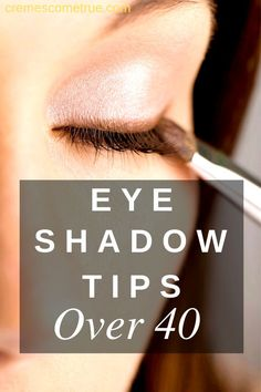 Eye Shadow Tips Over 40 – Crepey lips and crows feet be damned! Emphasize your eyes with this eye shadow tip for over 40 women. Eye Shadow Tips Over 40 – Crepey lips and crows feet be damned! Emphasize your eyes with this eye shadow tip for over 40 women. How To Apply Eyeshadow, Eyeshadow Looks, How To Apply Makeup, Eyeshadow Makeup, Applying Eyeshadow, Eyeshadow Tips, Makeup Tips Over 40, Makeup Tips For Older Women, Eye Makeup Tips