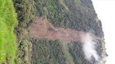 Deslave ocurrido en Baños de Agua Santa, vía Ulba a El Triunfo en Julio 2.016