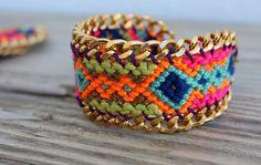 NEW OOAK friendship bracelet in beautiful winter by Ibonkza