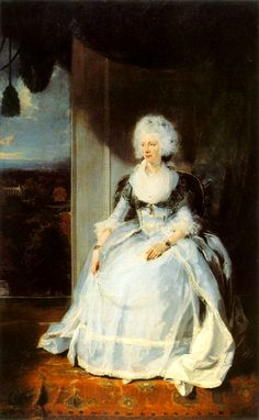 Queen Charlotte, 1789-90, by Sir Thomas LAWRENCE, Oil on canvas, 239 x 147 cm  National Gallery, London